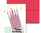 CROWNED QUEEN Retro Birthday Card, 5 per Pack