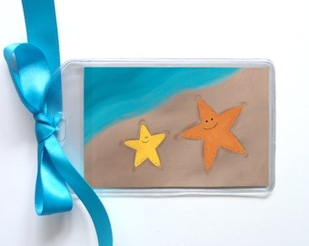 Starfish Friends Beach Bag Tag - Luggage Tag