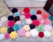 HUGE SALE! 10 headbands for 27.99 grab bag of  chiffon flower headbands or clips newborn, child, adult, girl, photographer, Christmas