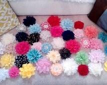 HUGE SALE! 10 headbands for 24.99 grab bag of  chiffon flower headbands or clips newborn, child, adult, girl, photographer, Christmas