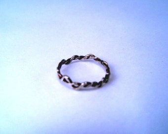 Silver Ring Twist Stacking Band Size 1.5