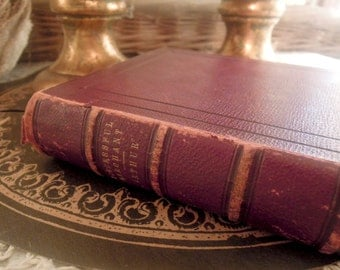 Vintage / Antique 1853 Book / Successful Merchant / Brown Leather and Gold Lettering