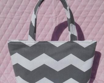 Grey Chevron Kids Bag