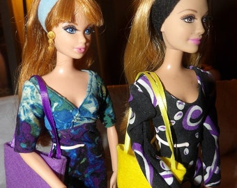 Accessory Set - 2 purses, 2 belts / headbands, 1 pair of shoes for Fashion Dolls - as5