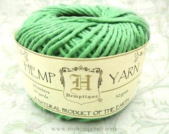 Cotton Hemp Yarn, Green, 66yd Natural DK Weight Hemp Cotton Blend Yarn