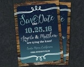 Printable Save the Date Card -- Starry Night, Under the Stars Card DIY -- Wedding Save the Date digital file