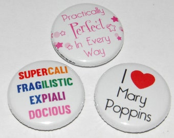 Mary Poppins Button Badge 25mm / 1 inch