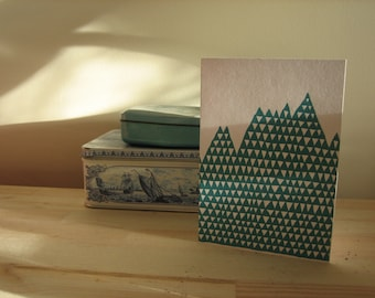 A6 triangle mountain card
