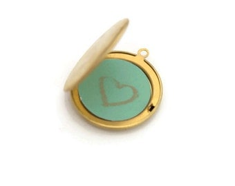 Personalized jewelry, Chalkboard locket,lockets for women,color lockets, locket necklace,  sea green ,  add on to colour lockets