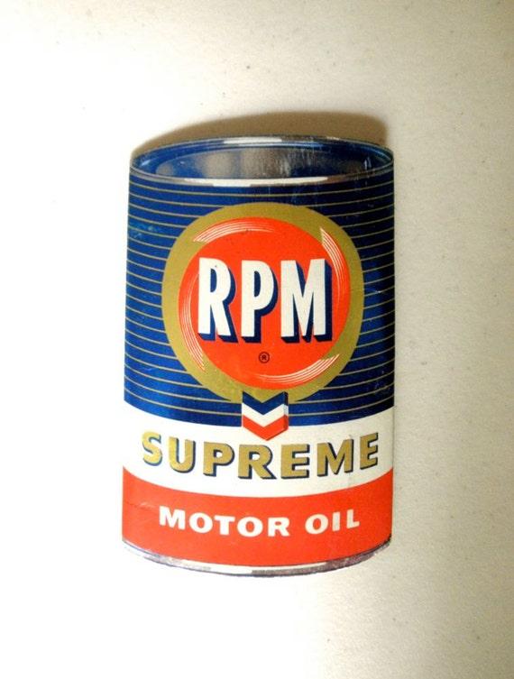 Gear Head Advertising Rpm Chevron Supreme Motor By