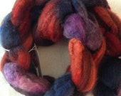 Jewel Toned BFL Wool Hand Dyed Spinning Fiber Felting Fiber from Colorado