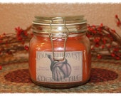 New 32oz Pumpkin Pie Filling Scented Primitive Country Harvest Fall Jar Candle HHCOFG