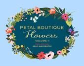 Petal Boutique Flower & Leaf Clip Art Vol. 2 - Blog Graphics - Instant Download includes EPS Vectors