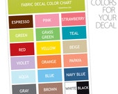 Wall Decal Color Chart Sample