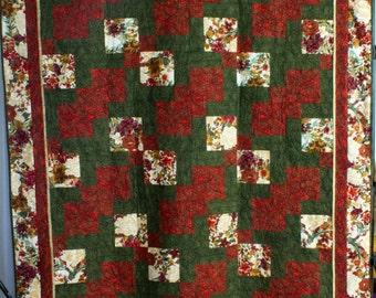 Christmas Disappearing 9-Patch Quilt