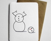 Headless Snowman - Funny Christmas Card