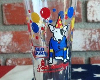 Vintage Bud Light 1987 Spuds Mckenzie Beer Glass