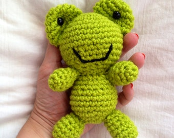 Mini Frog Plush Toy/ Photography Prop/ Stuffed Toy / Soft Toy/Amigurumi Toy-  MADE TO ORDER