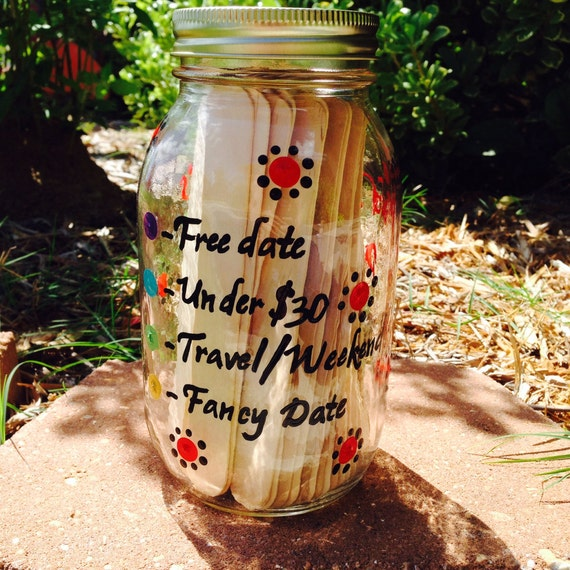 Couples Shower Game Bridal Shower Game Date Night Idea Jar for wedding shower