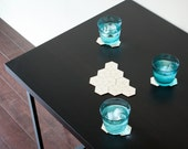 Hexagon Geometric Cluster Coasters 20% OFF! 3 LEFT!