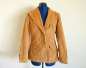Artbro Cordoroy Vintage Jacket with Wood Buttons, bust 43, sleeves 24