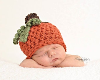 Chunky pumpkin hat - newborn size only, made to order
