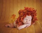 baby lion hat, newborn hat, newborn girl, newborn boy, lion newborn hat, newborn props, newborn lion outfit, newborn lion set