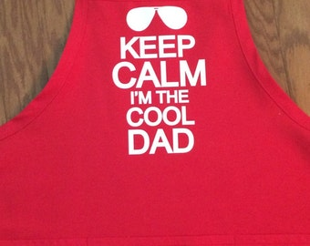 Personalized apron for your cool dad!  Perfect for Father's Day.  Can have any wording you choose