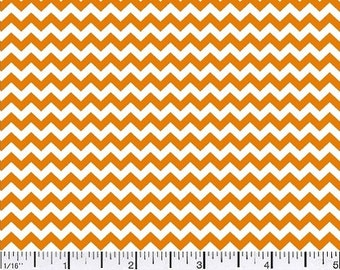 Rust (Gold) Orange Chevron Mini - Cotton