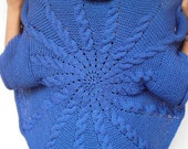 Cable Sun Ring Fashion Shrug   Merino Wool  Vest Woman Hand Knit Circle shrug NEW