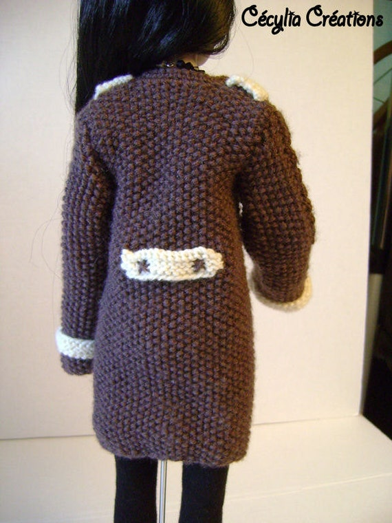 37. French and english knitting pattern PDF - Coat and his shapka for Ellowyn...