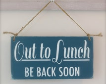 .printable out to lunch sign office pinterest lunches sewing