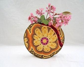 Aussie Blossom fishbowl fabric vase