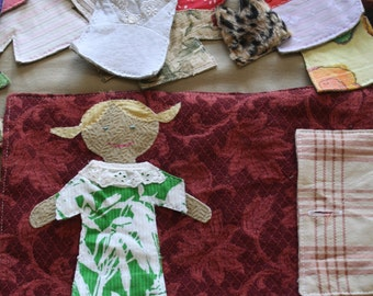 Dress up Doll, Fabric doll, Doll Carrying case - made to order
