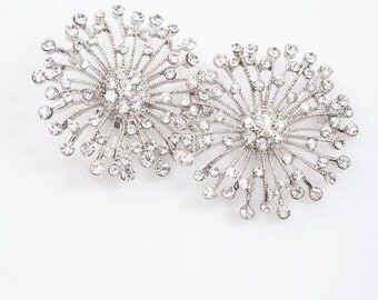 bridal rhinestone shoe clips, crystal shoe clips, wedding shoes embellishment