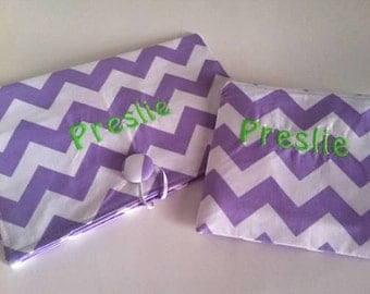 Diaper Wipe Clutch and snack bag -- Cheveron--  Organize your Diaper Bag