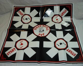 POKER ROYAL Game by Hoyle - 1979 - Complete with Playing Mat Deck of Cards & Chips - RARE