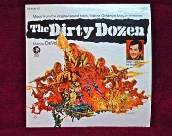 THE DIRTY DOZEN - Original Motion Picture - 1967 Vintage Vinyl Record Album...Promotion Copy