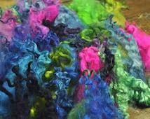 Hand Dyed Teeswater Curls locks 50g Pick n Mix Colours - felt making, needle felting art yarn spinning embroidery crochet dolls hair tassles