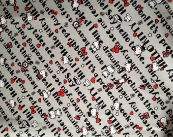 Hello kitty  fabric One yard fabric grey colour