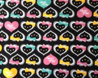 Hello kitty  fabric half  yard fabric 2014 new fabric black colour