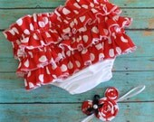 Halloween costume for newborn to toddler Minnie mouse, Disney diaper cover headband set, polka d,  newborn, baby, toddler.