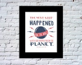 Dropped You On The Planet Color Print