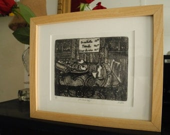 Metal Etching, framed