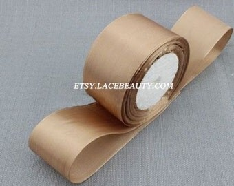 Light Coffee Ribbon Terylen Lace Trim 1.96 Inches Wide 22 meters