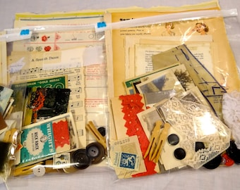 Large Ephemera Pack (100) Vintage Paper Ephemera Lot Vintage Paper Pack