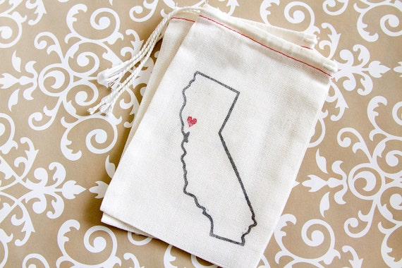 Wedding Favor Bags Under USD1 : Home State Wedding FavorsState Favor BagsHome State Favor Bags ...