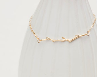 Tree Branch Bracelet in Gold Vermeil
