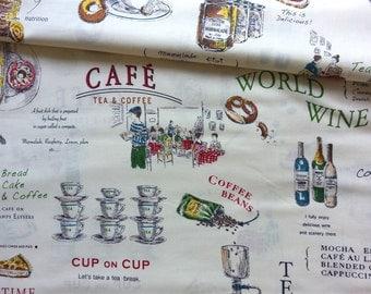 Japanese Fabric Cotton Yuwa - Suzuko Koseki - English Cafe White - a yard