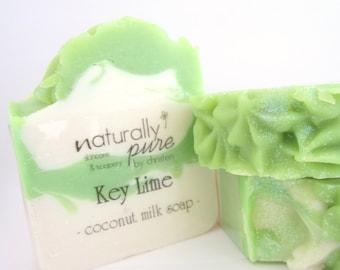 KEY LIME, Coconut Milk Soap, Cold Process Soap, Shea Butter Soap, Coconut Lime Soap, Artisan Soap, Natural Soap, Soap, Gifts, Bar Soap